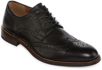 STAFFORD Stafford Mason Mens Leather Wingtip Oxford Dress Shoes