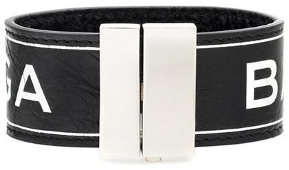Balenciaga Balenciaga Printed Leather Bracelet