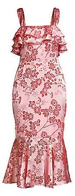 LIKELY Women's Madeline Floral Ruffled Dress