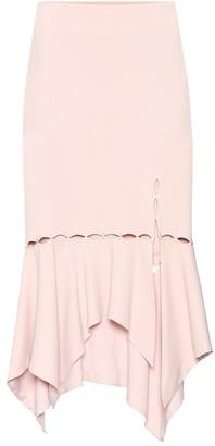 Jonathan Simkhai Embellished crepe skirt