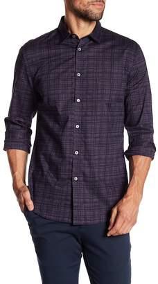 John Varvatos Collection Long Sleeve Print Slim Fit Woven Shirt