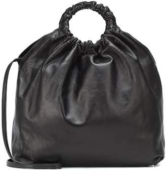 The Row Double Circle XL leather shopper