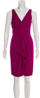 Diane von Furstenberg Silk Knee-Length Dress Violet Silk Knee-Length Dress
