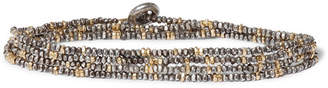 M. Cohen Sterling Silver And 18-Karat Gold Beaded Bracelet