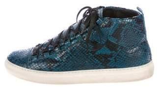 Balenciaga Arena Snakeskin Sneakers