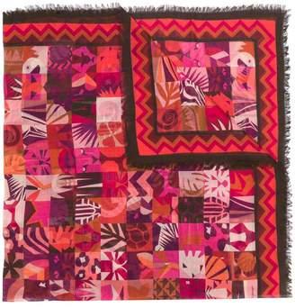 Salvatore Ferragamo Scialle patchwork print square scarf