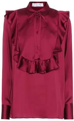 Valentino Flounced silk blouse