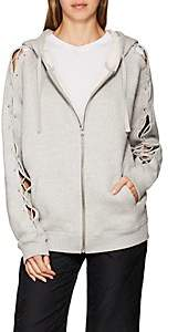 IRO Women's Nazko Lace-Up Cotton Fleece Hoodie - Light Gray Size M