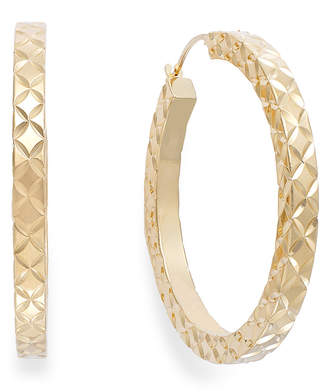 Signature Gold Diamond-Cut Hoop Earrings in 14k Gold over Resin