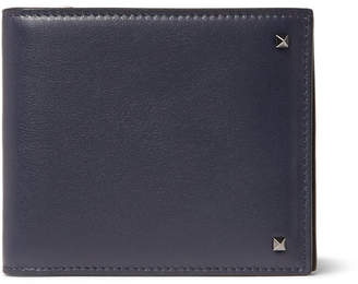 Valentino Rockstud Leather Billfold Wallet