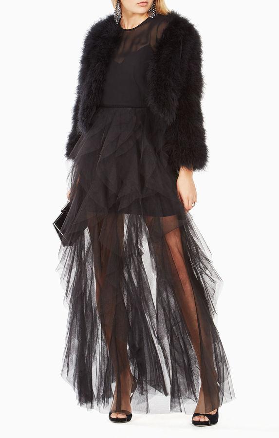 BCBGMAXAZRIA Margaret Marabou-Feather Jacket