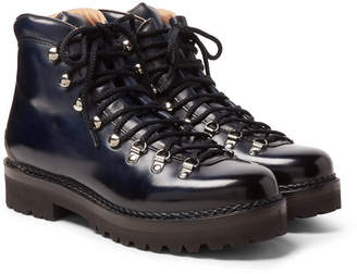 Ralph Lauren Purple Label Fidel Leather Boots