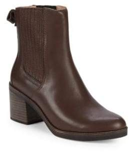 UGG Camden Leather Block Heel Booties