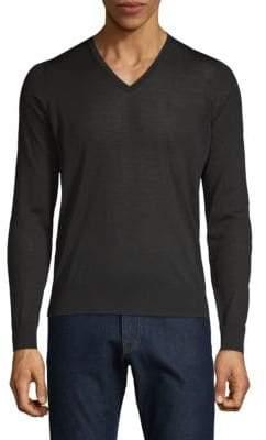 Giorgio Armani Rib-Trimmed Wool Pullover