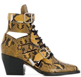 Chloé python print Rylee boots