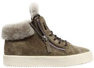 Giuseppe Zanotti Design 20mm Sherling & Suede Sneakers