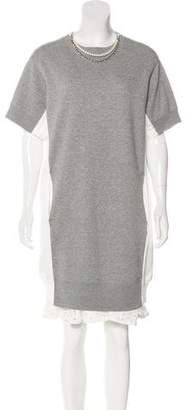 Sacai Embellished Midi Dress