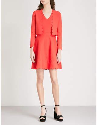 Claudie Pierlot Woman Lace-up Striped Intarsia-knit Mini Dress Orange Size 2 Claudie Pierlot zNlWoGR