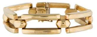 14K Rectangle Bar Link Bracelet