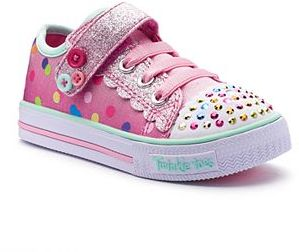 Skechers Twinkle Toes Shuffles Dazzle Dot Toddler Girls' Light-Up Shoes $49.99 thestylecure.com