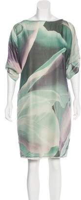 Armani Collezioni Printed Silk Dress
