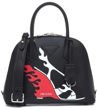 Prada Printed leather shoulder bag
