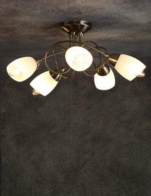 Marks and Spencer Andrea 5 Light Flush Lamp