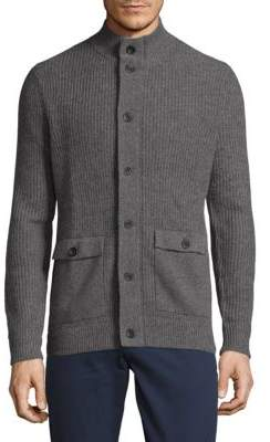 Saks Fifth Avenue Button Front Cashmere Sweater