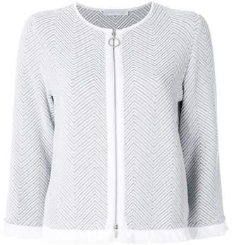 Fabiana Filippi zigzag knitted fitted jacket
