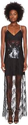 McQ Strap Bias Mixed Lace Dress Women's Dress
