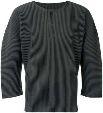 Issey Miyake Homme Plissé cropped sleeve top