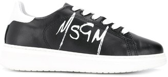MSGM logo lace-up sneakers