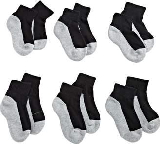 Jefferies Socks Little Boys' Seamless Sport Quarter Half Cushion Socks (Pack of 6)