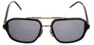 Thom Browne Gradient Aviator Sunglasses