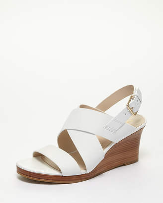 Cole Haan (コール ハーン) - Cole Haan Women OPTIC WHITE LEATHER PENELOPE WEDGE