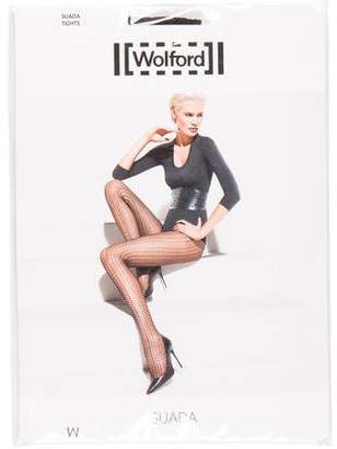 Wolford Suada Patterned Tights w/ Tags