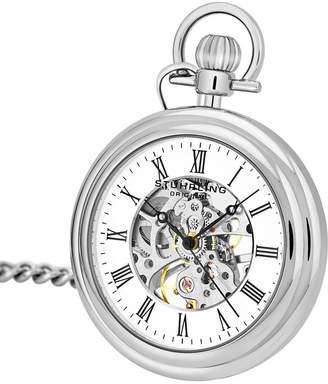Stuhrling Original Stainless Steel Pocket Watch