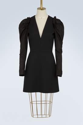 Alexander McQueen Draped wool dress