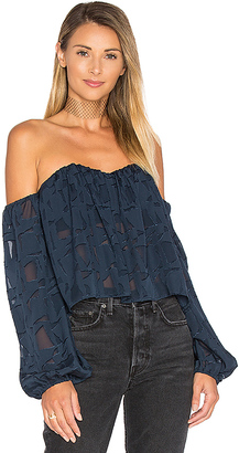 STONE COLD FOX x REVOLVE Anita Tube Top in Navy $352 thestylecure.com