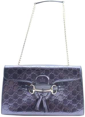 Gucci Emily Purple Patent leather Handbag