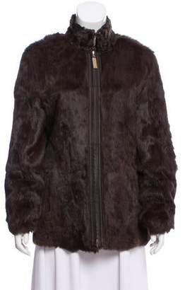 St. John Reversible Fur & Leather Jacket