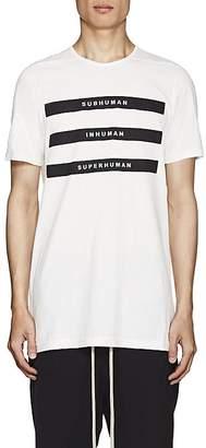 Rick Owens Men's Appliquéd Cotton Jersey T-Shirt