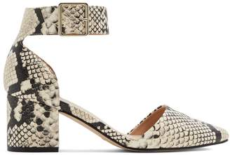 Call it SPRING Snakeskin-Print d'Orsay Pumps