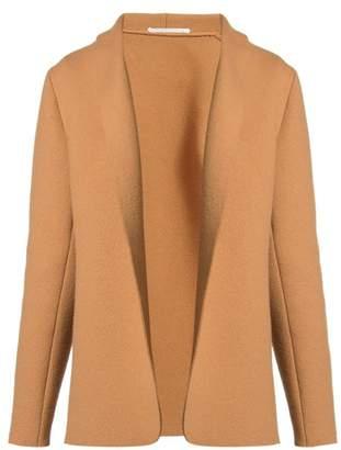 Stella Mccartney - Shawl Lapel Raw Edge Wool Jacket - Womens - Camel