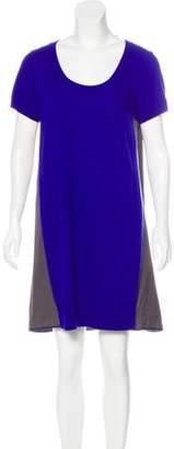 Sacai Wool & Angora-Blend Sweater Dress