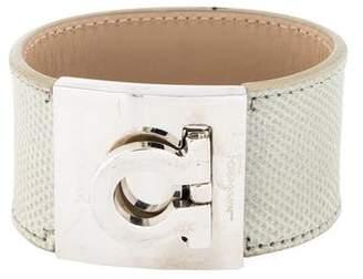 Salvatore Ferragamo Leather Gancio Bracelet