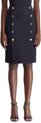 Ralph Lauren Ophelie Sailor Button-Front Skirt