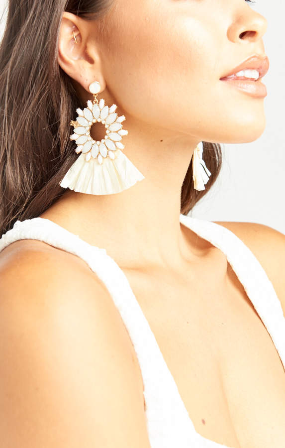 Show Me Your Mumu Bridal Shower Earrings ~ White