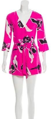 Yumi Kim Silk Floral Print Romper