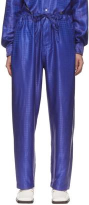 Comme des Garcons Blue C Pattern Trousers